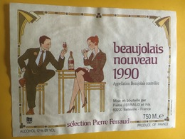 6562 - Beaujolais Nouveau 1990 Sélection Ferraud - Beaujolais
