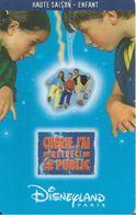 PASS°--DISNEY-DISNEYLAND PARIS-1999-CHERIE J AI RETRECI LE PUBLIC-ENFANT-V° GEMPLUS-99/01/HOE-TBE-RARE - Pasaportes Disney