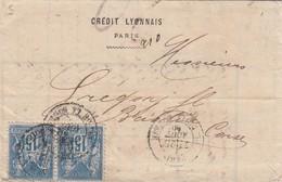 FRANCE -  LETTRE CREDIT LYONNAIS PARIS 26 AOUT 80 POUR BASTIA CORSE / 3 - Postmark Collection (Covers)