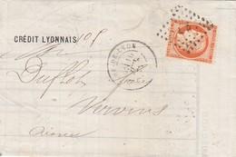 FRANCE -  LETTRE CREDIT LYONNAIS LYON 10 JUIL 75 POUR VERVINS AISNE  / 3 - Marcofilie (Brieven)
