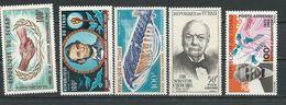 TCHAD  Scott C21, C22, C23, C24, C25 Yvert PA24, PA25, PA36, PA27, PA28 (5) ** Cote 10,75$ 1965 - Tchad (1960-...)