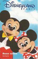 PASS--DISNEY-DISNEYLAND PARIS-1997-PERSONNAGES ENFANT-V° ISRA-Serie N°98091 CHE-TBE - Pasaportes Disney