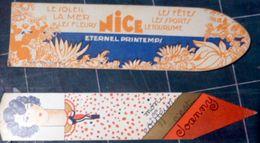 06 NICE 2 MARQUE PAGES ILLUSTRES TOURISME ET SALON COIFFURE JOANNY 15  RUE BISCARRA  COIFFEUR CHEVEUX PERMANENTE - Bookmarks
