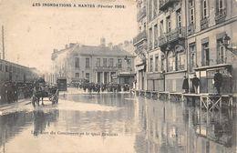 NANTES - Inondations - Février 1904 - La Place Du Commerce Et Le Quai Brancas - Nantes
