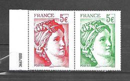 Fg 132  France Paire Issue Du Feuillet Les 40 Ans De La Sabine De Gandon N++ - Autres