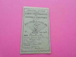 Carte Individuelle De Controle Athlétique  1943 - Cartes