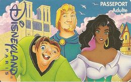 PASS-DISNEYLANDPARIS -1997-LE BOSSU ADULTE-V° N°S 970925-TBE- - Pasaportes Disney