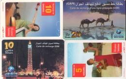 LOTE DE 4 TARJETAS TELEFONICAS DE TUNEZ (PREPAGO) (094) - Tunisia
