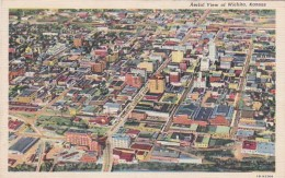 Kansas Wichita Aerial View 1943 Curteich
