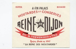 BUVARD  Marque  Alimentaire  Moutardes  Et  Conserves  REINE  De  DIJON, ETS  G . THEVENIAUD & FILS - Papel Secante