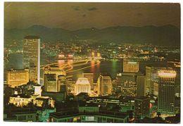HONG KONG - NIGHT SCENE FROM PEAK - Cina (Hong Kong)