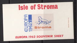 Isle Of Stroma Europa 1962 Sheetlet - Unmounted Mint NHM - Local Issues