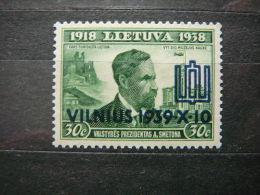 Lietuva Lithuania Litauen Lituanie Litouwen # 1939  ** MNH # Mi. 434 - Lithuania