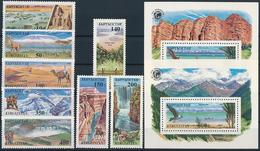 Mi 97-104 + Block 14-15 ** MNH Wonders Of The World - Kyrgyzstan