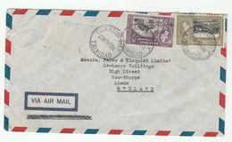 1958 Air Mail TRINIDAD TOBAGO Stamps COVER Claxton Bay  To GB - Trinidad & Tobago (...-1961)