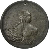 Russie, Medal, Elizabeth, Paix Avec La Suède, 1743, TB, Tin - Tokens & Medals
