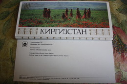 Kyrgyzstan.  About The Country - Rare Old USSR Postcard Set - 25 PCs Lot 1984 - Kyrgyzstan