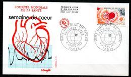 FDC75-17 Dept 75 PARIS Mois Du Cœur 1972 - FDC