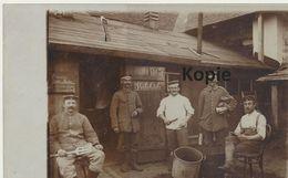 AK Stabsküche Mit Speiseplan - Weltkrieg 1914-18