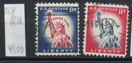 Etats Unis - Vereinigte Staaten - USA 1958-61 Y&T N°637 à 637A - Michel N°(?) (o) - Série Courante - Etats-Unis