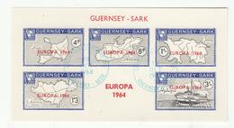 Guernsey SARK Europa 1964 Miniature Sheet - Superb Fine Used - Guernsey