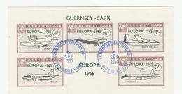 Guernsey SARK Europa 1965 Miniature Sheet - Superb Fine Used - Guernsey