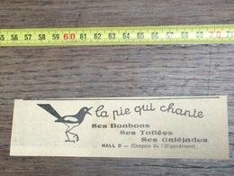 ANNEES 20/30 PUBLICITE BONBONS LA PIE QUI CHANTE A L HIPPODROME LILLE - Collections