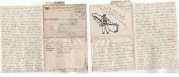 1947 Padang HAND DRAWN SOLDIERS LETTERSHEET Forces Mail Cover Military Netherlands Indies Luchtpostbrief Stationery - Netherlands Indies