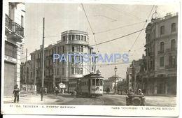 85753 GREECE T BLANCHE SINIQUE STREET TCHIMISKI TRAMWAY POSTAL POSTCARD - Grèce