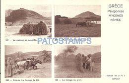 85766 GREECE PENEPOLESE PATRAS COSTUMES FIELD MULTI VIEW POSTAL POSTCARD - Griechenland