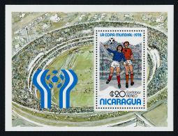 Nicaragua, 1978, Soccer World Cup Argentina, Football, MNH, Michel Block 108 - Nicaragua