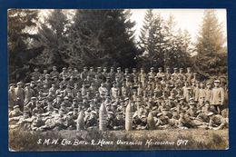 Carte-photo. 5. Minen-Werfer Bataillon. 2. Kompagnie Unterlüss ( Basse Saxe-Celle). 1917 - Régiments