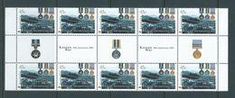 Australia 2000 Korean War Anniversary Gutter Strip Of 10 MNH - 2000-09 Elizabeth II
