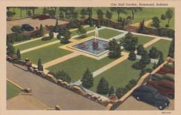 Indiana Hammond City Hall Garden Curteich - Hammond