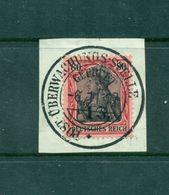 Etappe West, Neuer Wert  Auf D. Reich - Marke, Nr.10 Auf Briefstück Vollstempel - Besetzungen 1914-18