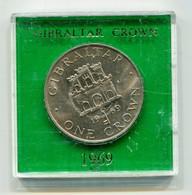 1969 Gibraltar 'Encased' Crown Coin - Gibraltar