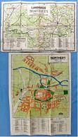 Alter Stadtplan Von Northeim + Landkreis Northeim - Ca. 34,5 X 49 Cm + 42,5 X 30 Cm - 1960er Jahre - Strassenkarten
