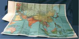 Landkarte Asien - 96 X 85 Cm - 1970er Jahre   -  Maßstab 1 : 12.000.000 - Maps Of The World
