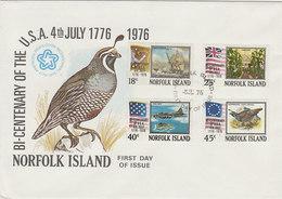 Norfolk Island 1976 Bicentenary Of USA  FDC - Norfolk Island