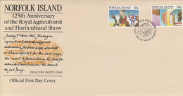 Norfolk Island 1985 Horticultural Show  FDC - Norfolk Island