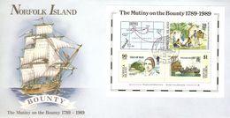 Norfolk Island 1989 The Mutiny Of The Bounty  MS - Norfolk Island