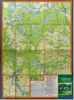 VEB Wanderkarte Rheinsberger Landschaft Mit Neuruppin - Fürstenberg  -  Ca. 56,5 X 63 Cm - Ca. 1972 - Karten