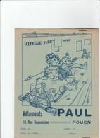 PROTEGE CAHIER 18/24 CM.  VETEMENTS PAUL A ROUEN - Protège-cahiers