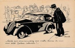 H26 - Illustrateur CHEVAL - - Soutien Fraternel Des PTT - Voilà Que Vous Renversez Une Vieille Dame Et Que Vous Sous... - Cheval