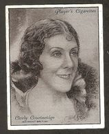 CICELY COURTNEIDGE CIGARETTES CARD JOHN PLAYER  FILM STARS 1930s VINTAGE - Tobacco (related)