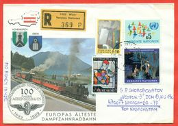 UN 1989 (Vienna).The Envelope Actually Passed The Mail. Railway. Registered. - Europe (Other)