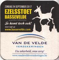 Zondag 24 September 2017 - Ezelsstoet - Bassevelde - 4 Jaarlijkse Folklorestoet - Ongebruikt Exemplaar - Bierviltjes