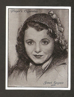 JANET GAYNOR  CIGARETTES CARD JOHN PLAYER  FILM STARS 1930s VINTAGE - Tobacco (related)