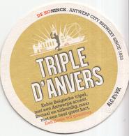 DeKoninck - Antwerp City Brewery Since 1833 - Triple D'Anvers - Ongebruikt Exemplaar - Bierviltjes