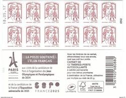 CARNET 12TP CIAPPA - TVP LP -  PARIS 2024 - FRANCE 2025 - DATE DU 18 05 17 - NEUF - NON PLIE - Usage Courant